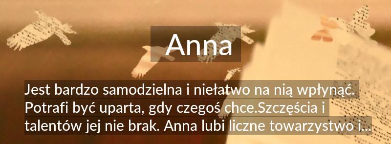 Anna Znaczenie Imienia Anna Poznaj Co Kryje Się Pod Tym